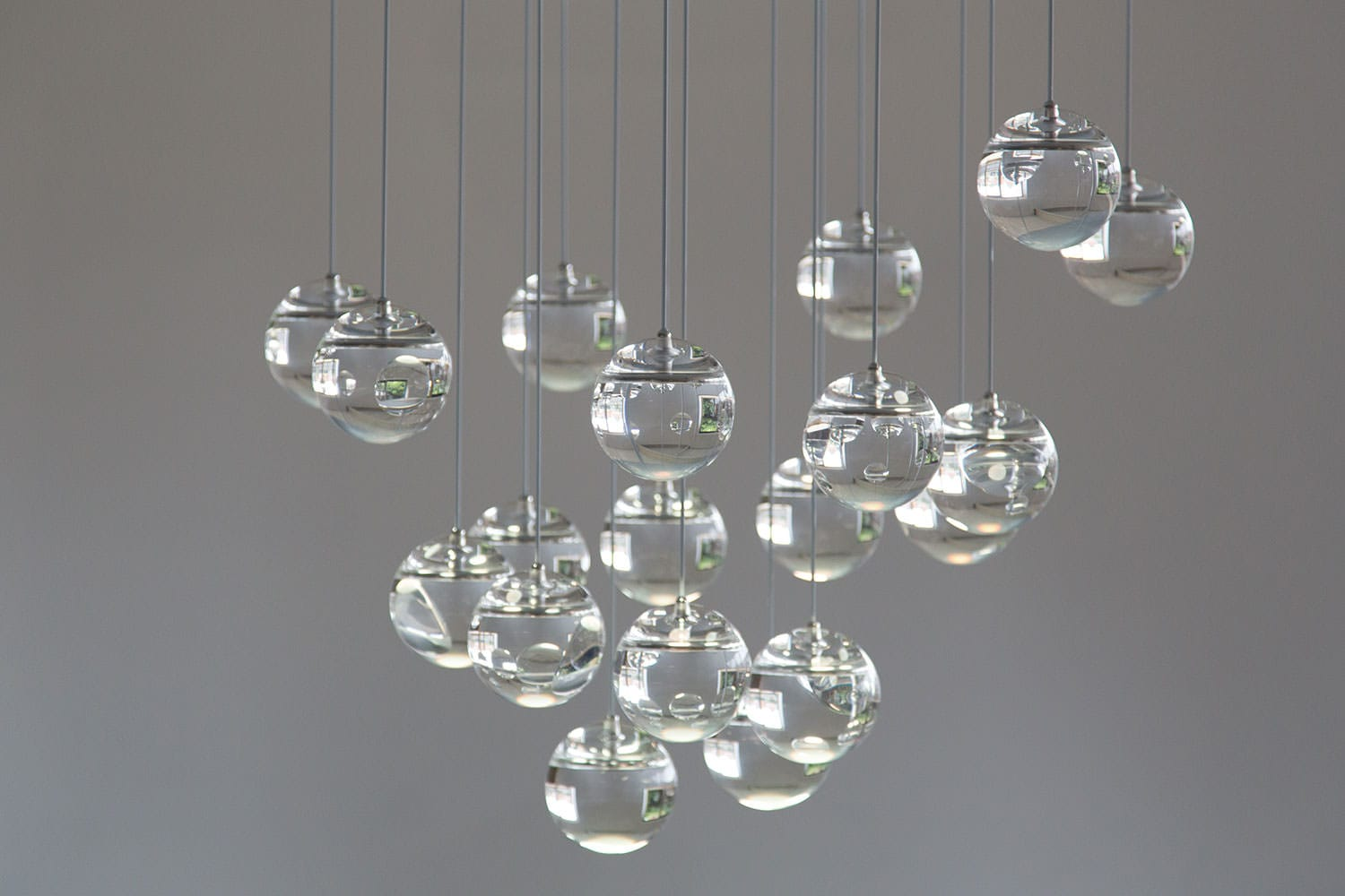 Oled Moon Chandelier by Dominic Harris