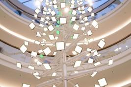 OLED lighting installation in Aquis Plaza