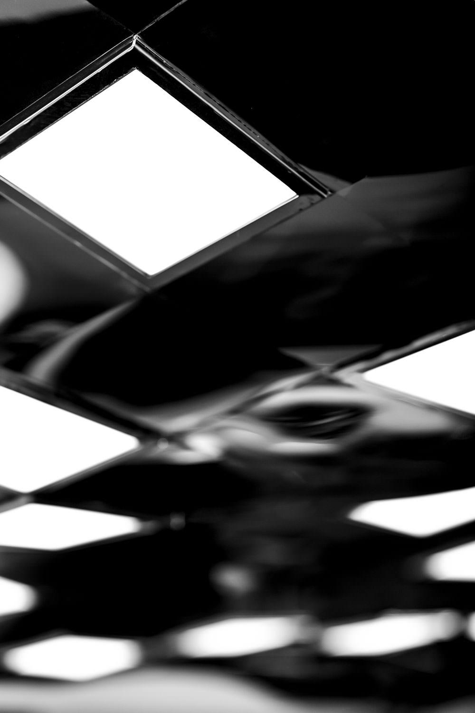 closeup of pendant OLED luminaire Pixelate from Birot