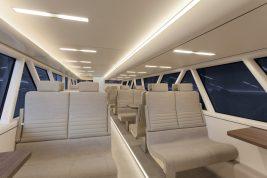 Interior of Aeroliner3000 with OLED lighting panels