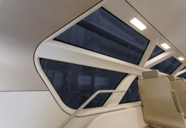 window with one rectangular OLED light above in Aeroliner3000