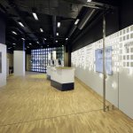 Neue Aargauer Bank with interactive OLED lighting installation