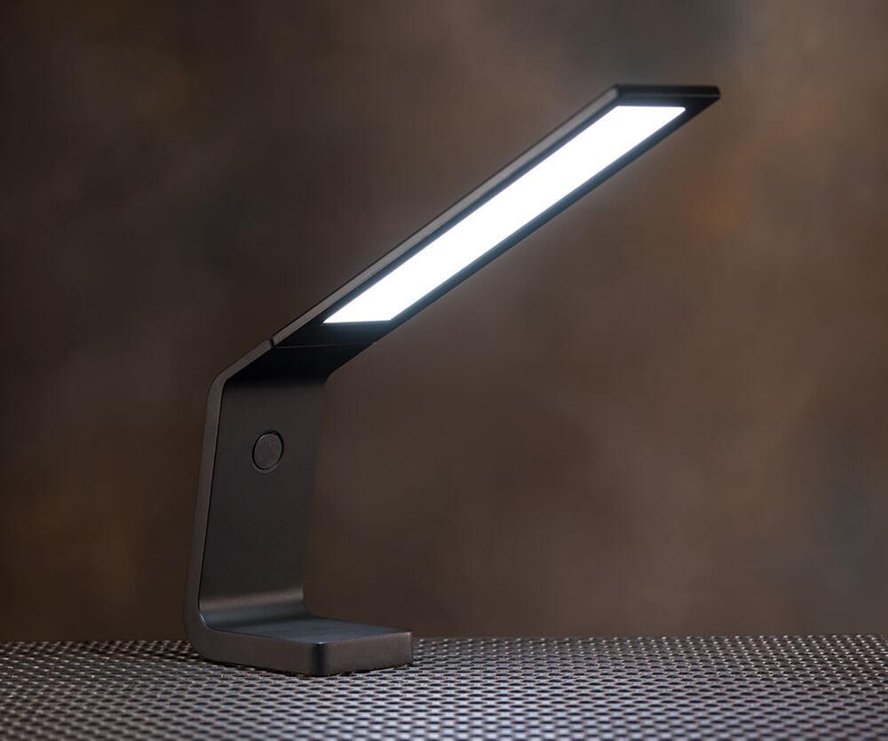 Ascend OLED desk lamp in black