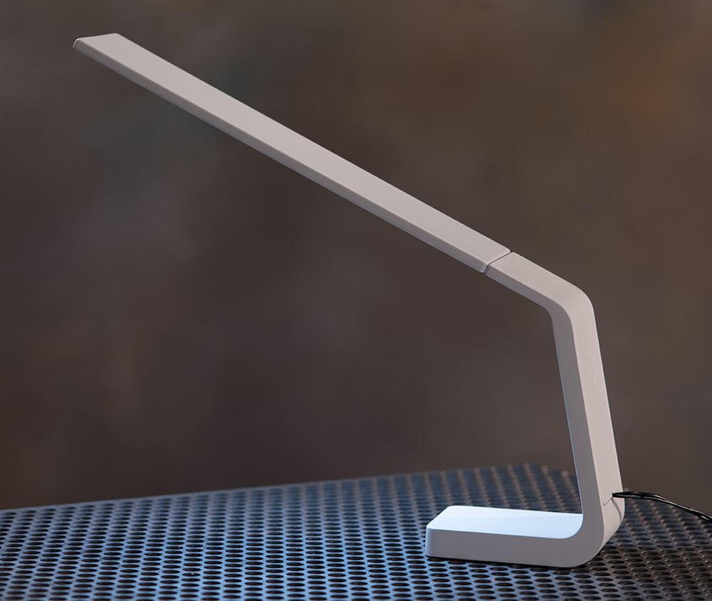 Ascend OLED desk lamp in white