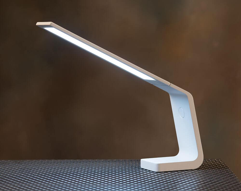 Ascend OLED desk lamp in white