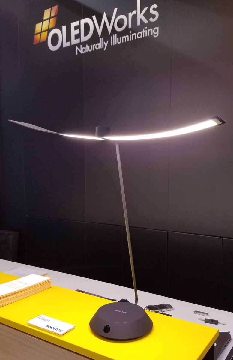 OLED desk lamp Moon by Philips