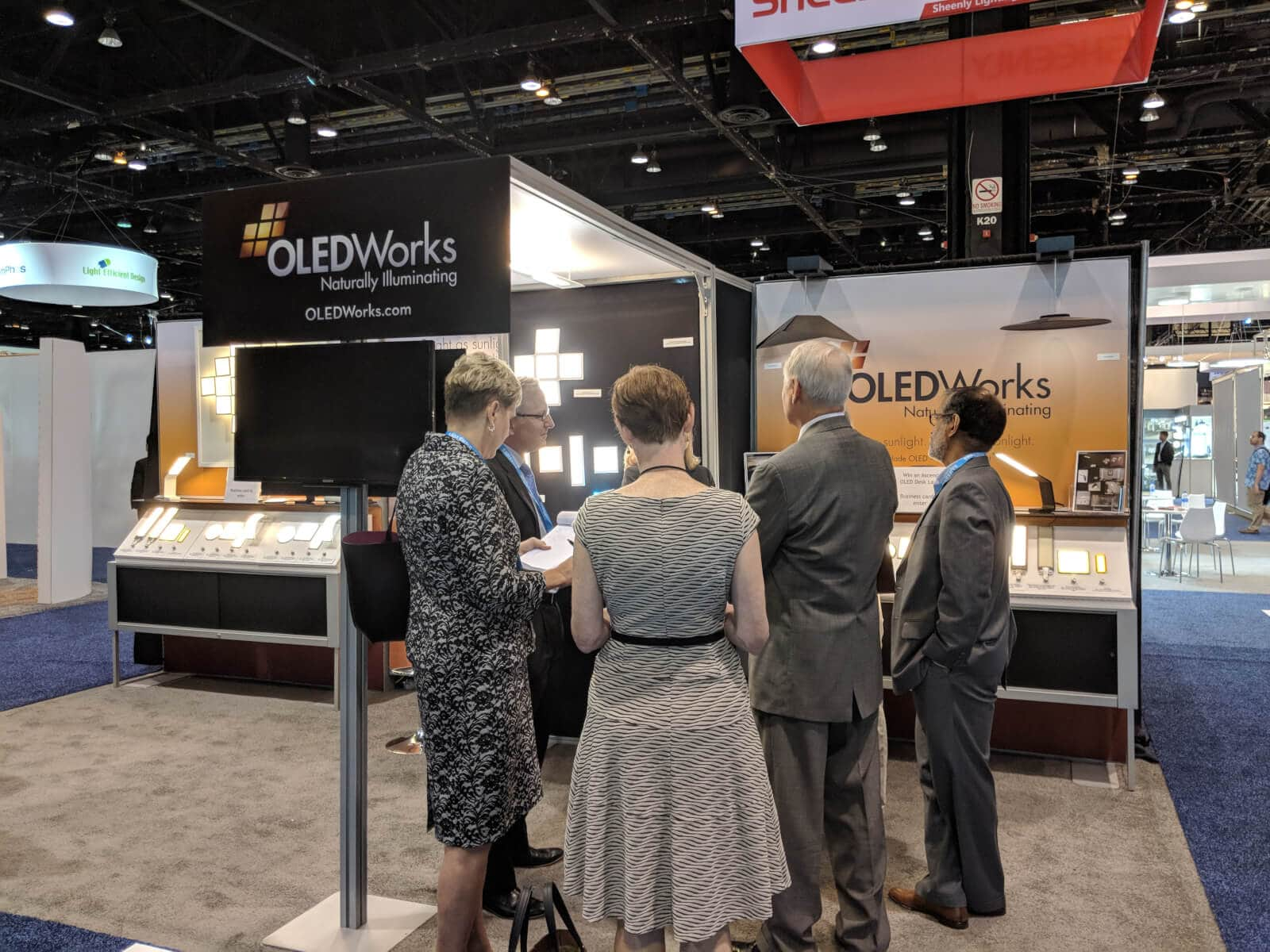 Visitors of Lightfair 2018 at OLEDworks booth
