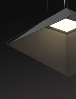 OLED luminaire Sail in black by Eureka Lighting