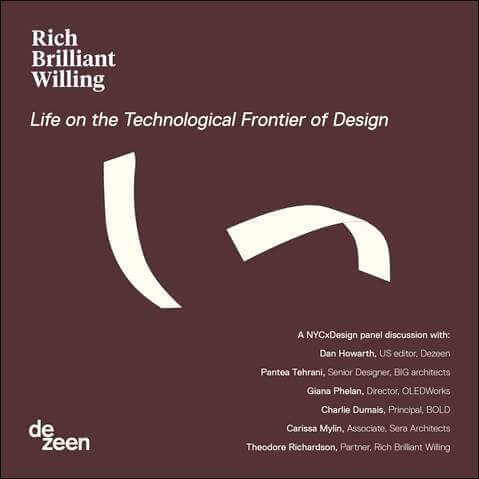 Panel topic Life on the Technological Frontier of Design at Rich Brilliant Willing´s showroom