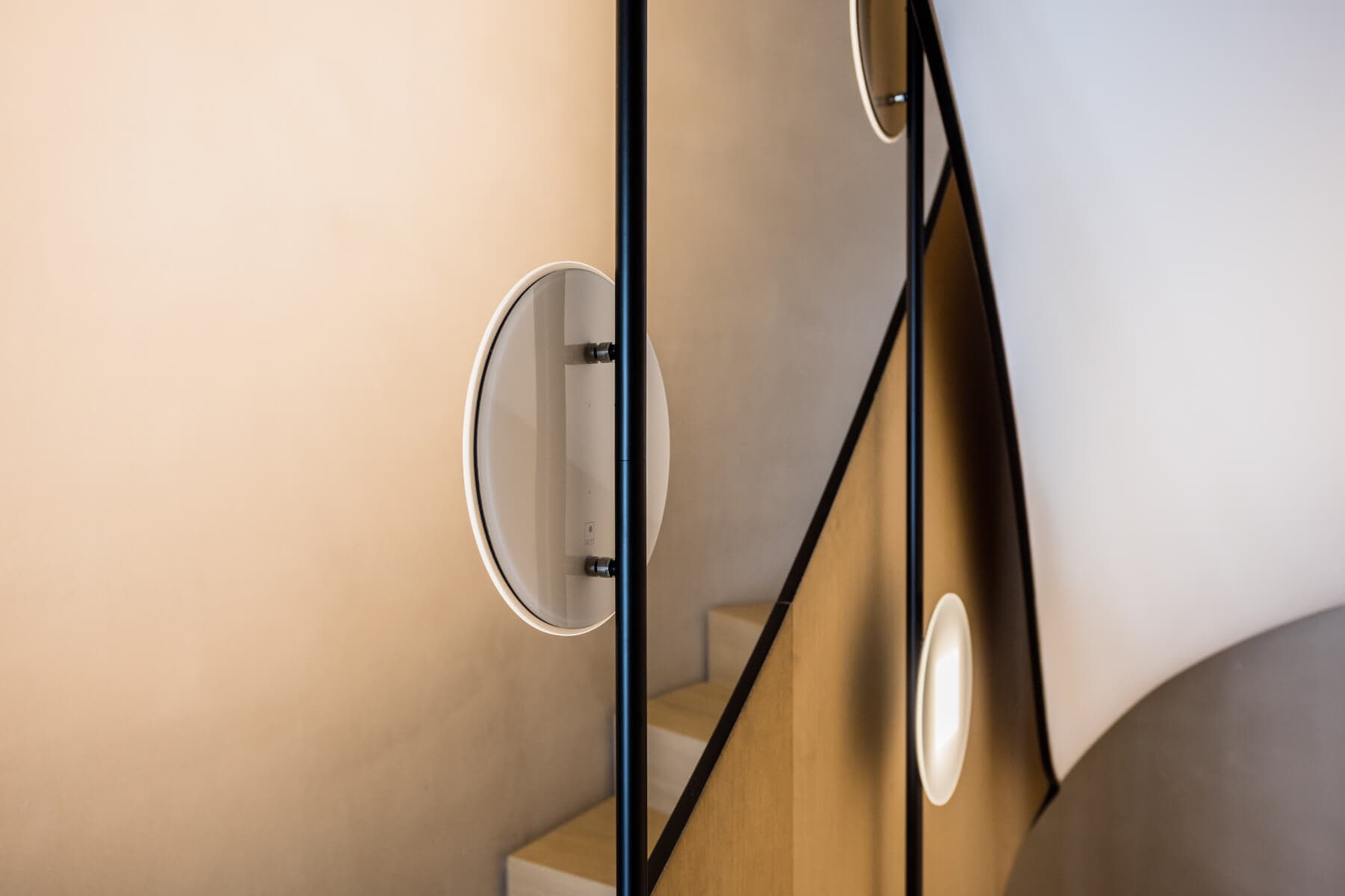 OLED luminaires at stairwell