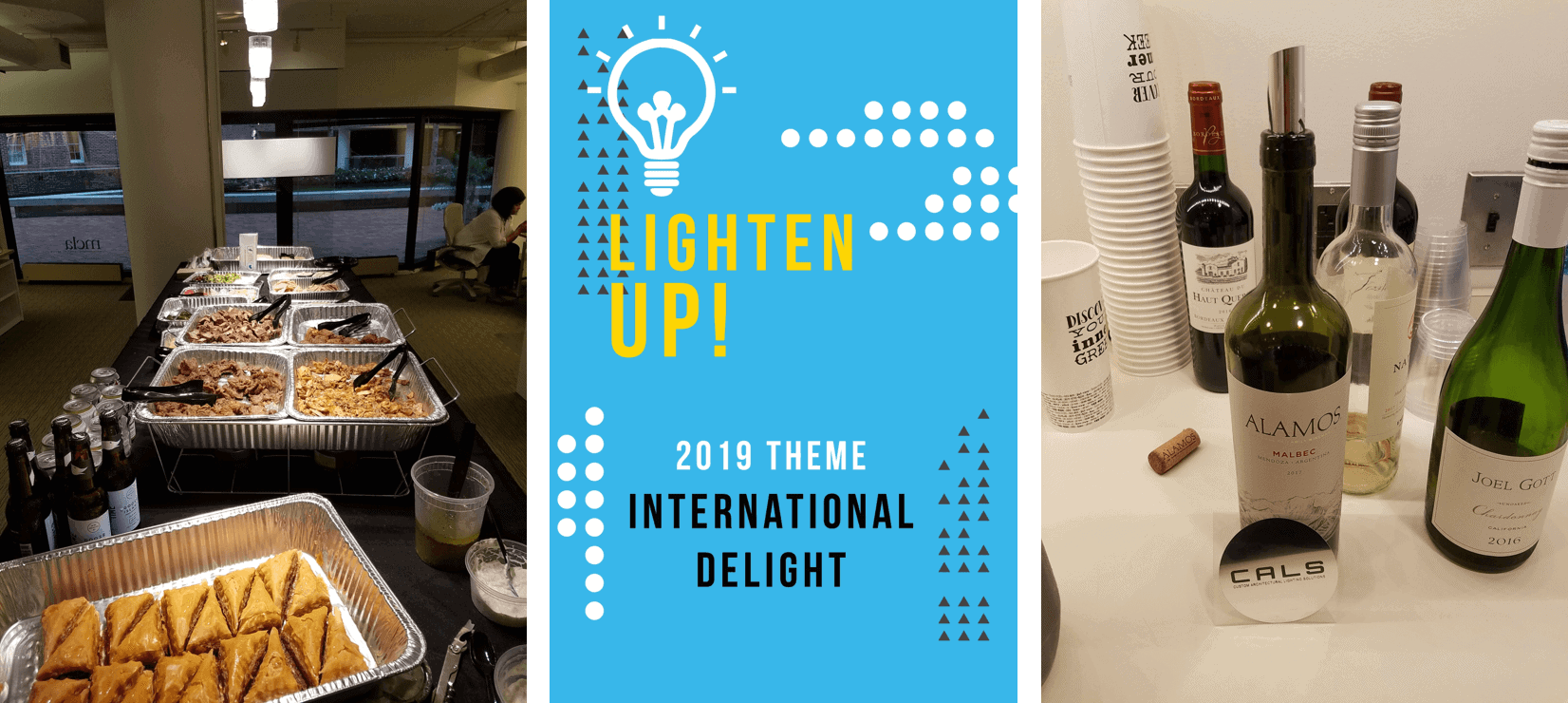 food and beverages at Lighten Up! 2019 design competition