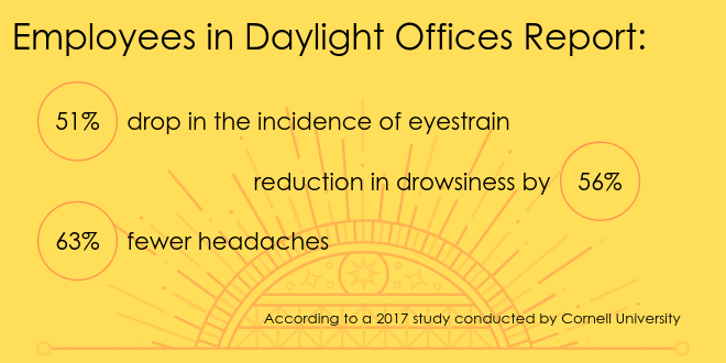 Benefits of daylight in the workplace