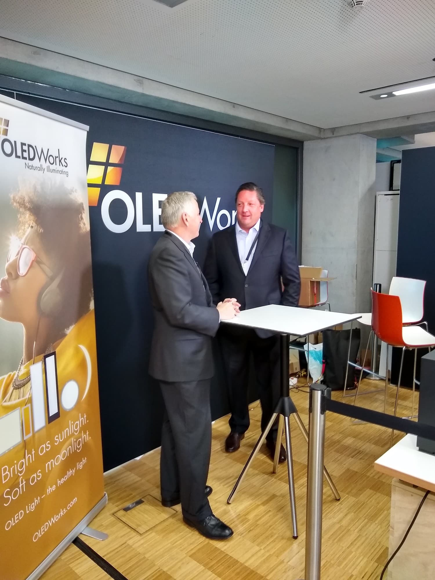 CEO Dave Dejoy and CRO John Holland, OLEDWorks