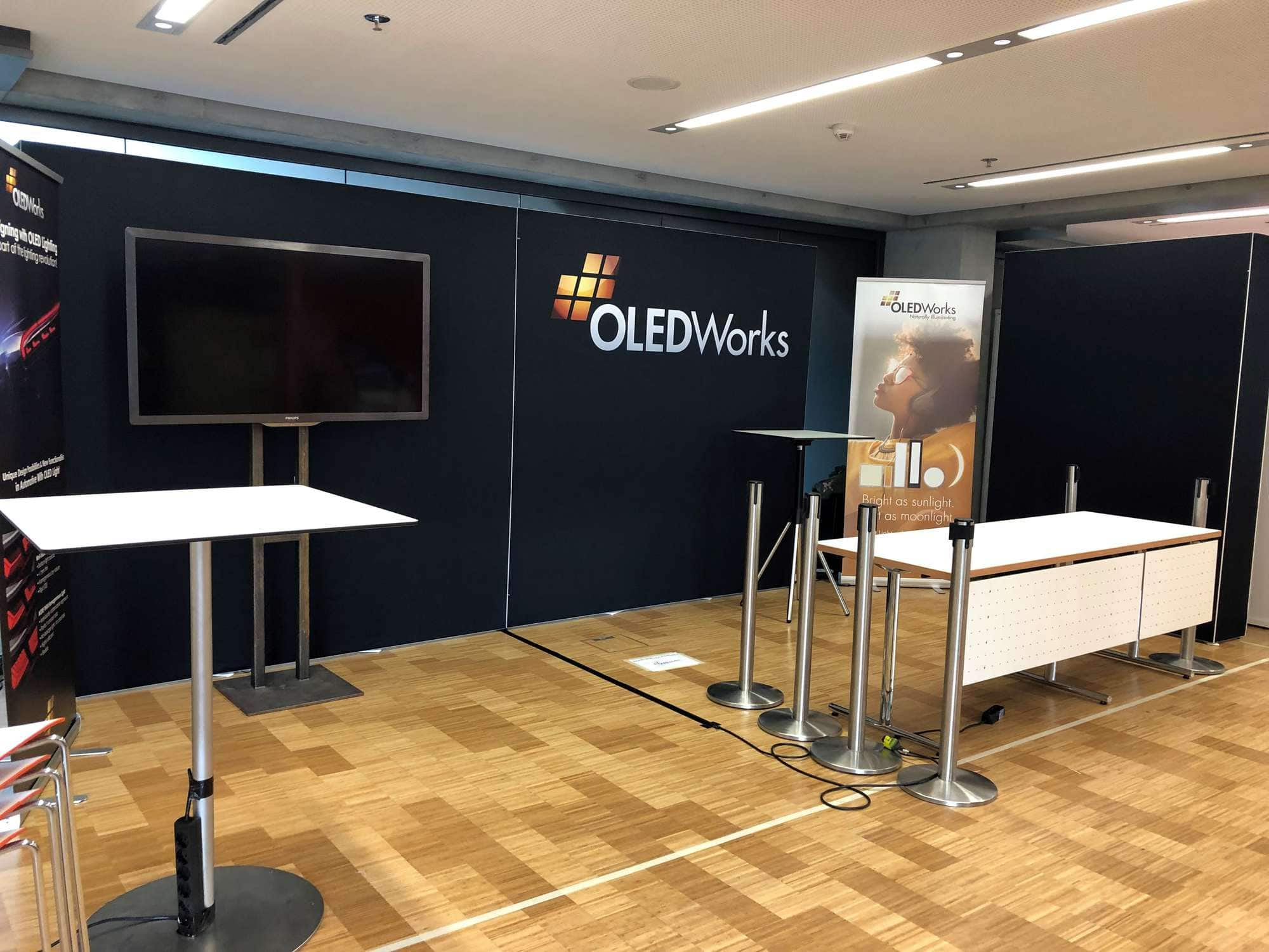 Finished OW Booth at ISAL 2019 | OLEDWorks