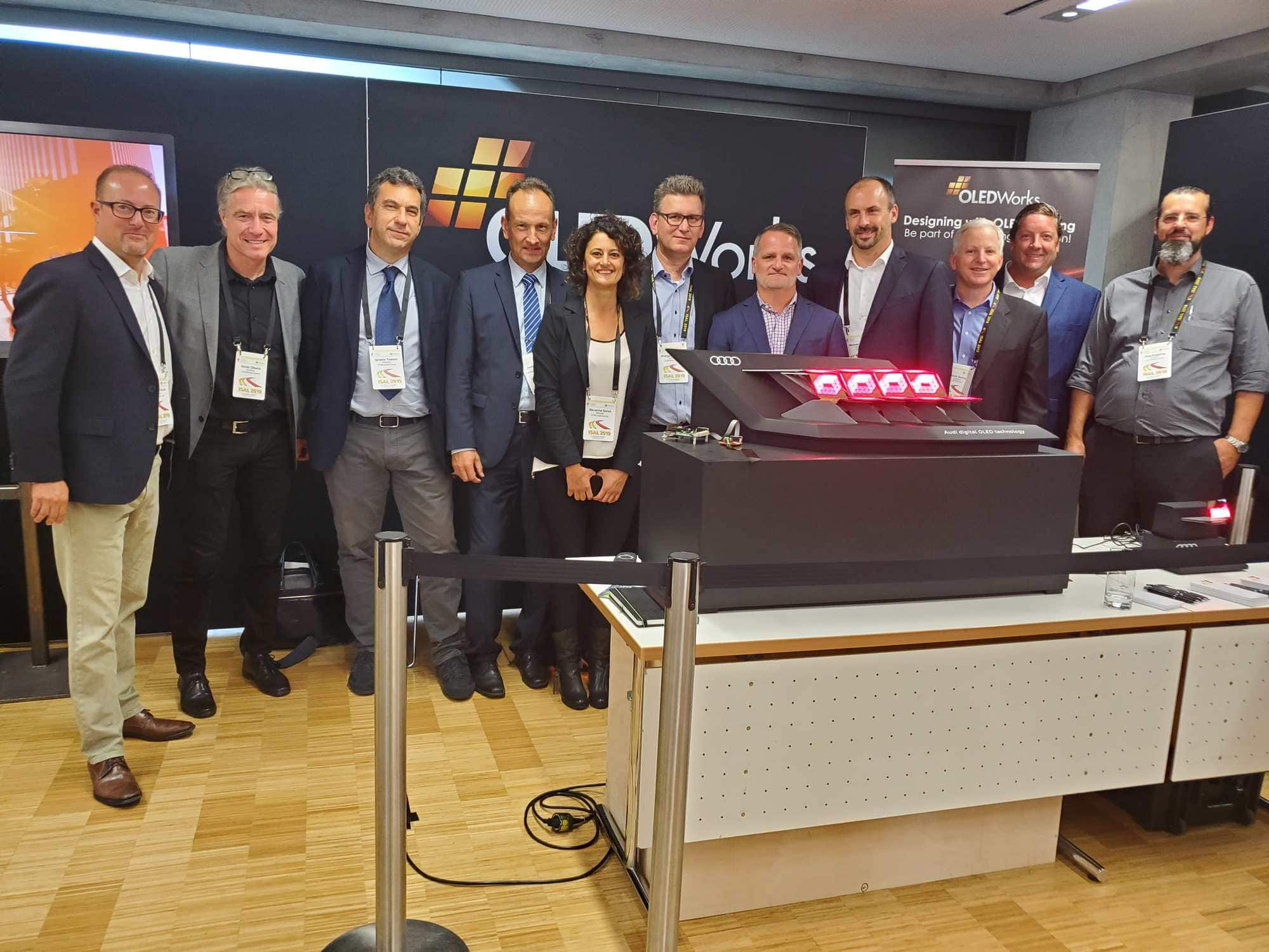 Team from Audi, OLEDWorks and STMicroelectronics at ISAL 2019 | OLEDWorks