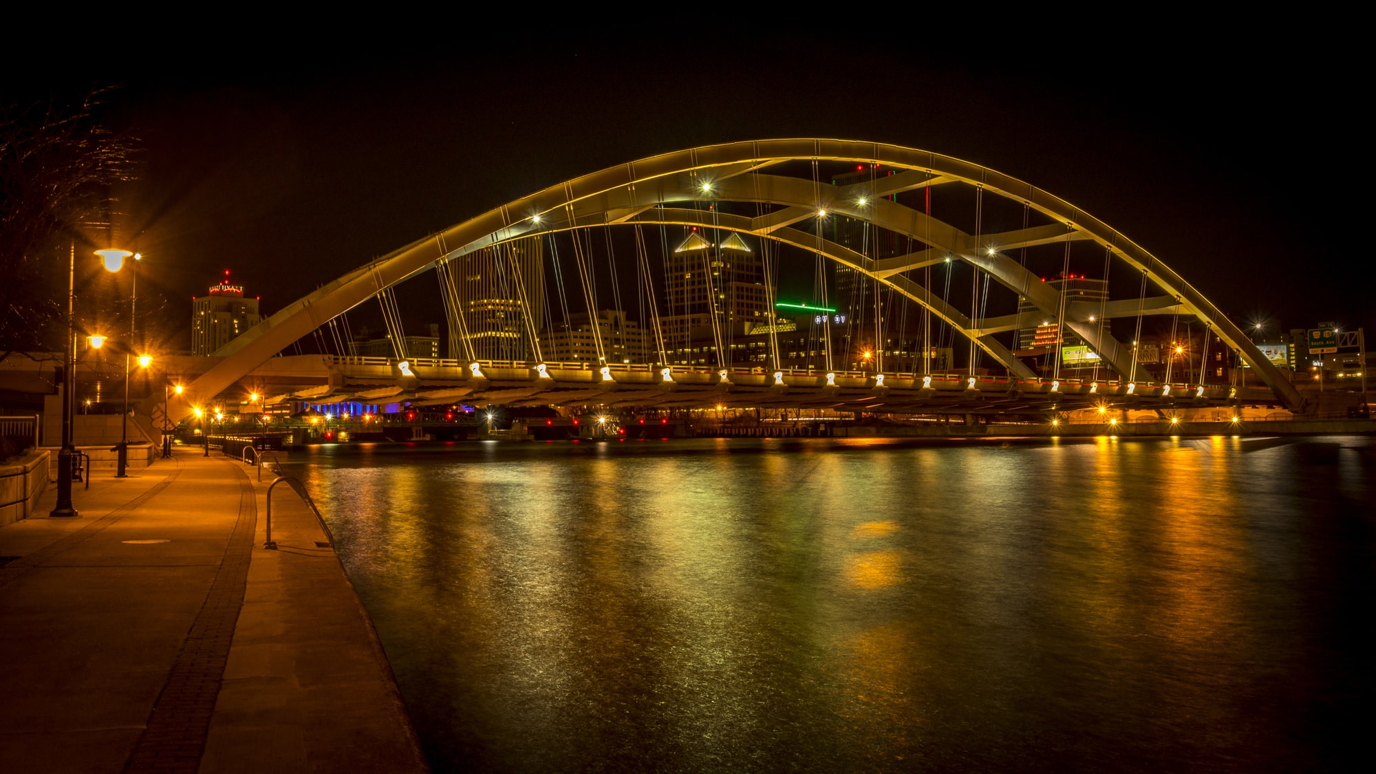 Susan B. Anthony/Frederick Douglass Bridge in Rochester, NY | OLEDWorks