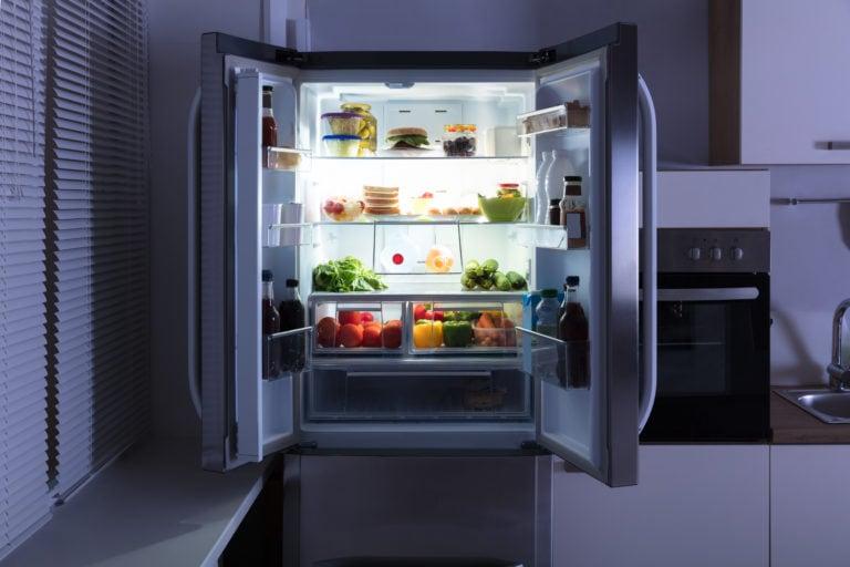 Open Refrigerator In Kitchen