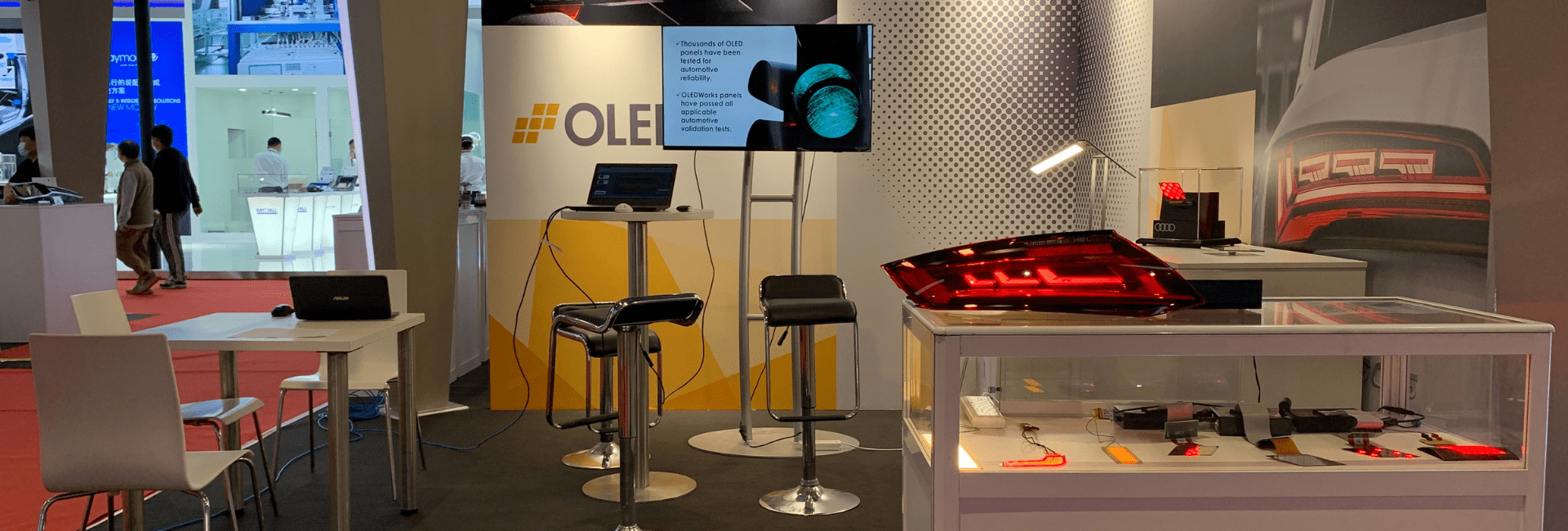 Automotive OLED Lighting Solutions Featured in the OLEDWorks Booth at the Largest Automotive Show in the World